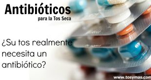 Antibióticos tos seca
